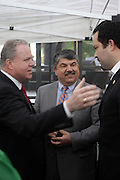 29 April 2010 New York, NY- Jack Ahern,  President NYC Central Labor Council, Richard Trumka, President AFL-CIO and Ben Jealous, President, NAACP at The March on Wall Street held at City Hall Park with proceeding March on Wall Street Protest on April 29, 2010 in New York City.