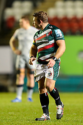 Tom Youngs, captain of Leicester Tigers, making his 200th appearance for the club  - Mandatory by-line: Nick Browning/JMP - 29/01/2021 - RUGBY - Mattioli Woods Welford Road - Leicester, England - Leicester Tigers v Sale Sharks - Gallagher Premiership Rugby
