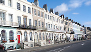 Guest houses and small hotels offering bed and breakfast accommodation on the Esplanade, Weymouth, England