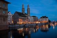 Winter Reflections, Grossmunster, Zurich Switzerland