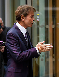 © Licensed to London News Pictures. 12/04/2018. London, UK. SIR CLIFF RICHARD arrives at the Rolls Building of the High Court in London where he is claiming damages against the BBC for loss of earnings. The 77-year-old singer is suing the corporation after his home in Sunningdale, Berkshire was raided following allegations of sexual assault made to Metropolitan Police. Photo credit: Ben Cawthra/LNP
