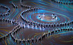 March 9, 2018 - Pyeongchang, South Korea - Artists and athletes perform during Opening Ceremony for the 2018 Pyeongchang Winter Paralympic Games. (Credit Image: © Mark Reis via ZUMA Wire)