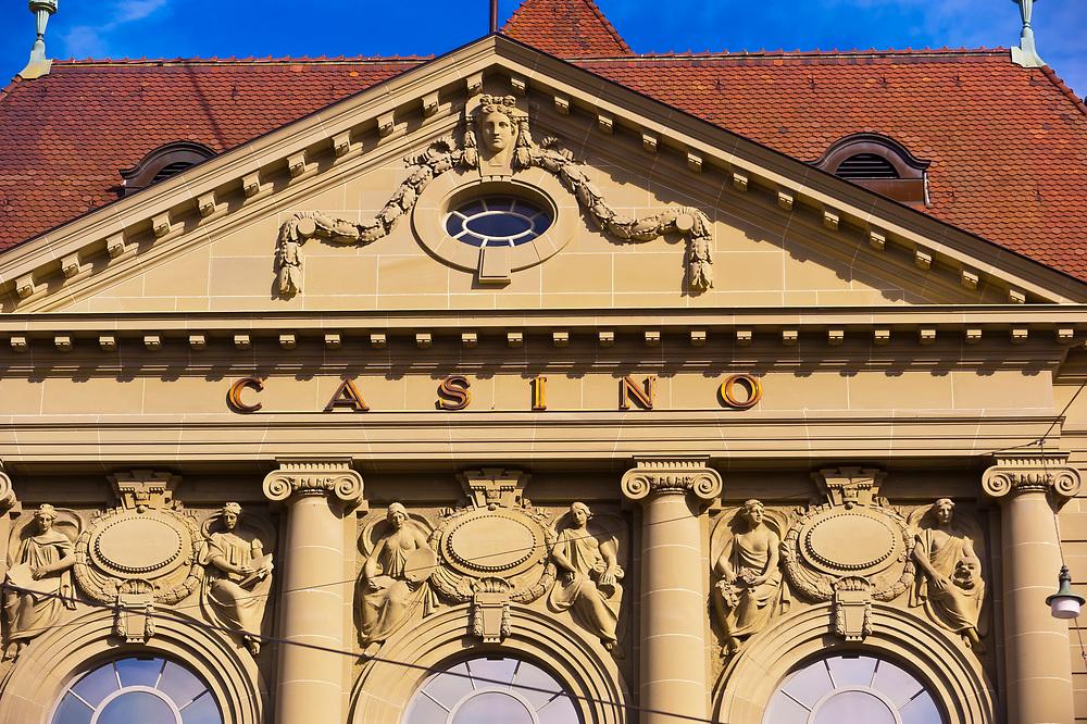 Facade of Kultur Casino (concert hall), Bern, Canton Bern, Switzerland