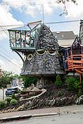 The Mushroom House was built by Architect Terry Brown in the Hyde Park neighborhood of Cincinnati, Ohio.