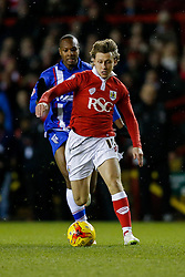 Luke Freeman of Bristol City in action - Photo mandatory by-line: Rogan Thomson/JMP - 07966 386802 - 29/01/2015 - SPORT - FOOTBALL - Bristol, England - Ashton Gate Stadium - Bristol City v Gillingham - Johnstone's Paint Trophy Southern Area Final Second Leg.