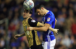 Birmingham City's Maxime Colin (right) and Sheffield Wednesday's Kieran Lee battle for the ball