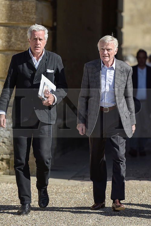 © Licensed to London News Pictures. 27/09/2015. Blenheim Palace, Oxfordshire. MAX MOSLEY former FIA President at the Blenheim Literary Festival answering questions on his problems with the press and the sex party allegations published in the press. Photo credit : MARK HEMSWORTH/LNP