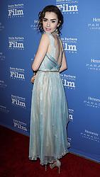 Santa Barbara International Film Festival's 10th annual Kirk Douglas Awards honoring Warren Beatty in California.<br /> 01 Dec 2016<br /> Pictured: Lily Collins.<br /> Photo credit: Image Press / MEGA<br /> <br /> TheMegaAgency.com<br /> +1 888 505 6342