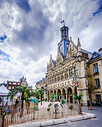 The summer beach festival in Saint-Quentin, France in full swing.  It is unuaual because Saint-Quentin is more than one hundred miles from the sea!<br /> <br /> (c) Andrew Wilson   Edinburgh Elite media