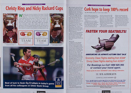 All Ireland Senior Hurling Championship - Final,.11.09.2005, 09.11.2005, 11th Septemeber 2005,.Minor Galway 3-12, Limerick 0-17,.Senior Cork 1-21, Galway 1-16,.11092005AISHCF,.Ulster Bank, .Christy Ring and Nicky Rackard Cups,