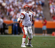 LOS ANGELES, CA-UNDATED:  Boomer Esiason of the Cincinnati Bengals is pictured in action against the Los Angels Rams.  Esaison played in the NFL from 1984-1997.  (Photo by Ron Vesely)