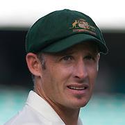 Michael Hussey after the Australia V Pakistan 2nd Cricket Test match at the Sydney Cricket Ground, Sydney, Australia, 6 January 2010. Photo Tim Clayton