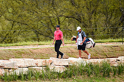 March 23, 2018 - Austin, TX, U.S. - AUSTIN, TX - MARCH 23: Rory McIlroy walks to the green with his caddie during the third round of the WGC-Dell Technologies Match Play on March 23, 2018 at Austin Country Club in Austin, TX. (Photo by Daniel Dunn/Icon Sportswire) (Credit Image: © Daniel Dunn/Icon SMI via ZUMA Press)