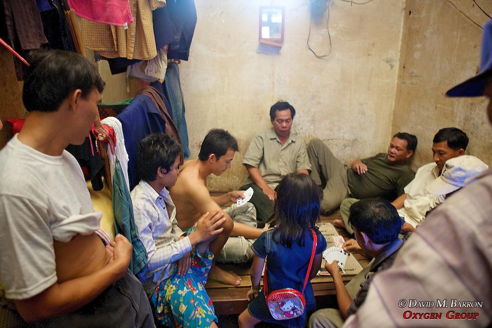Backroom Card Game At Phsar Nath Market