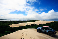 buggy tour on the big sand dune of Mangue Seco in bahia state brazil