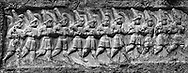 Sacred Stone - Black and white photo art print of of Hittite religious rock carvings of Yazılıkaya Hittite rock sanctuary, chamber A, 13th century BC, Hattusa, Bogazale, Turkey. by Paul Williams. .<br /> <br /> Visit our LANDSCAPE PHOTO ART PRINT COLLECTIONS for more wall art photos to browse https://funkystock.photoshelter.com/gallery-collection/Places-Landscape-Photo-art-Prints-by-Photographer-Paul-Williams/C00001WetsxVxNTo