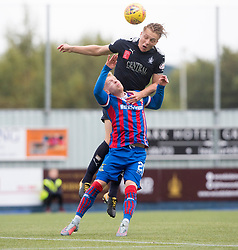 Falkirk's Peter Grant and Inverness Caledonian Thistle's Connor Bell. Half time : Falkirk 0 v 0 Inverness Caledonian Thistle, Scottish Championship game played 14/10/2017 at The Falkirk Stadium.