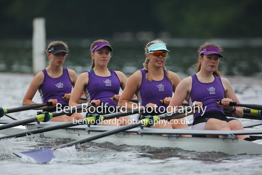 Wycliffe Junior Rowing Club (A)<br /> <br /> Junior 4x  Time Trial<br /> <br /> Henley Women's Regatta 2021<br /> Saturday