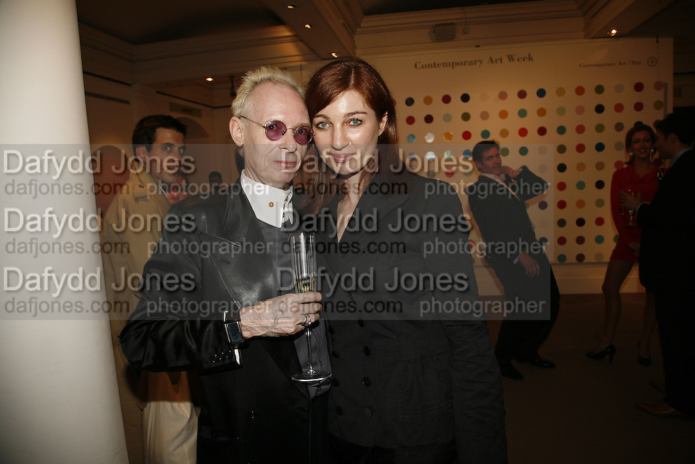 ANTHONY FAWCETT AND MICHELLE NICOL,  Whitechapel Exhibition Auction preview party.Artists from all over the world contribute to the Whitechapel's major auction, to raise funds towards the Gallery's expansion and future programmes.Sotheby's. 12 October 2006. . -DO NOT ARCHIVE-© Copyright Photograph by Dafydd Jones 66 Stockwell Park Rd. London SW9 0DA Tel 020 7733 0108 www.dafjones.com