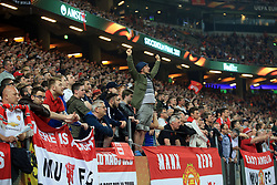 24 May 2017 - UEFA Europa League Final - Ajax v Manchester United - Manchester United fans look on in anticipation as the full time whistle draws close - Photo: Marc Atkins / Offside.