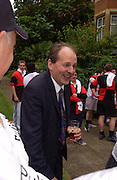 Lord Redesdale, Lords v Commons tug-o-war in aid of Macmillan Cancer Relief,  Westminster. 22 June 2004. ONE TIME USE ONLY - DO NOT ARCHIVE  © Copyright Photograph by Dafydd Jones 66 Stockwell Park Rd. London SW9 0DA Tel 020 7733 0108 www.dafjones.com