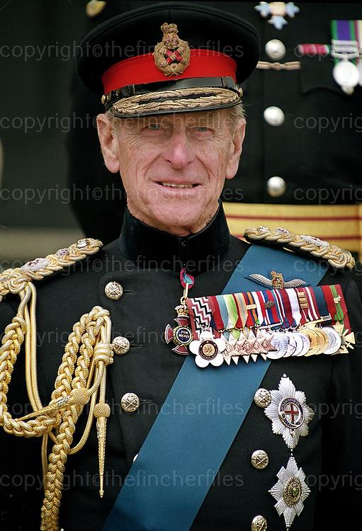 Prince Philip, The Duke of Edinburgh at Sandhurst Military Academy in April 2000.