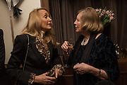 JERRY HALL; LADY GLENCONNER, Nicky Haslam hosts dinner at  Gigi's for Leslie Caron. 22 Woodstock St. London. W1C 2AR. 25 March 2015