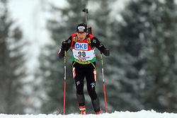 Martin Bogdanov (BUL) at Men 20 km Individual at E.ON Ruhrgas IBU World Cup Biathlon in Hochfilzen (replacement Pokljuka), on December 18, 2008, in Hochfilzen, Austria. (Photo by Vid Ponikvar / Sportida)