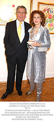 COUNT & COUNTESS FLAMBURIARI at an exhibition in London on 18th March 2003.<br />
