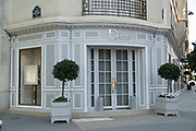 """March, 27th 2020 - Paris, Ile-de-France, France: Paris under confinement, Dior Avenue Montaigne area of high fashion, beauty, accessories, haute couture, all shops closed, in 8th arrondissement, and all public spaces virtually empty to stop the spread of the Coronavirus, during the eleventh day of near total lockdown imposed in France. The President of France, Emmanuel Macron, said the citizens must stay at home for at least 15 days, that has been extended. He said """"We are at war, a public health war, certainly but we are at war, against an invisible and elusive enemy"""". All journeys outside the home unless justified for essential professional or health reasons are outlawed. Anyone flouting the new regulations is fined. Nigel Dickinson"""