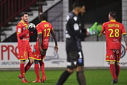 March 16, 2018 - Rouen, France - BUT Mouhamadou Ndao (que) - Jonathan Clauss (que) - Zacharie Boucher  (Credit Image: © Panoramic via ZUMA Press)