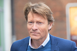 © Licensed to London News Pictures 01/05/2021. Sidcup, UK. Richard Tice. London mayoral candidate and Reclaim Party leader Laurence Fox visiting Sidcup in South East London today with Reform UK Party leader Richard Tice. Photo credit:Grant Falvey/LNP