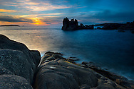 Sunset over Peninnis Head, St Mary's, Isles of Scilly, UK