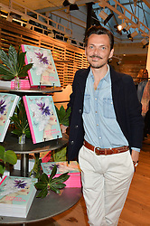 MATTHEW WILLIAMSON at a party to celebrate the launch of Matthew Williamson: Fashion, Print and Colouring Book held at Anthropologie, 158 Regent Street, London on 8th September 2016.