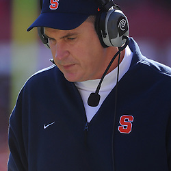 Oct 13, 2012: Syracuse Orange head coach Doug Marrone during NCAA Big East college football action between the Rutgers Scarlet Knights and Syracuse Orange at High Point Solutions Stadium in Piscataway, N.J.