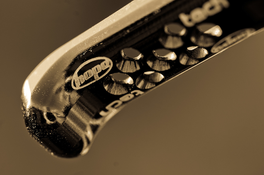 close up of MTB components