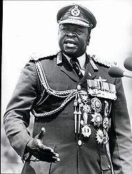 Jan. 01, 1978 - Koboko. Uganda. President Idi Amin addressing during his 7th anniversary celebrations of his military coup. (Credit Image: © Keystone Press Agency/Keystone USA via ZUMAPRESS.com)