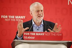 April 29, 2017 - London, London, UK - London, UK. Labour leader JEREMY CORBYN delivers a speech at London Metropolitan University in London on 29 April 2017. (Credit Image: © Tolga Akmen/London News Pictures via ZUMA Wire)