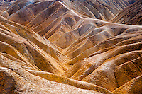 United States, California, Death Valley. Zabriskie Point is a part of Amargosa Range located in east of Death Valley, noted for its erosional landscape.
