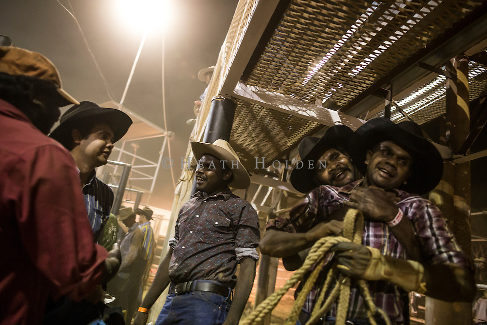 Tennant Creek local Mitchell Albert is happy to be ok after being thrown off and trampled by the bull during his ride at the rodeo, Mitchell was un-injured but shaken up.