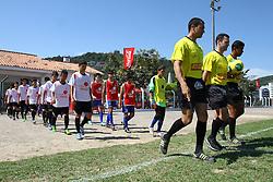 Lance da partida entre Espaço da Bola x Recriarte válida pela Copa Coca-Cola 2013 no complexo Esportivo Aldo Silva, em Florianópolis. Foto: Cristiano Estrela/Preview.com