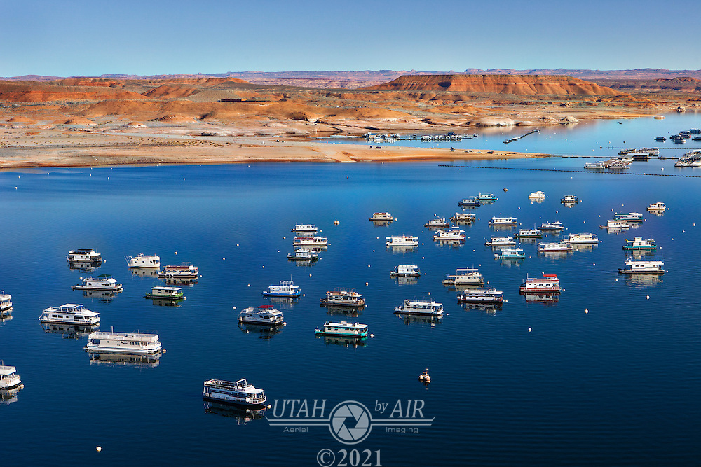 Houseboats at Bullfrog Marina on Lake Powell