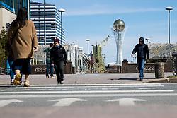 View of Baiterek Tower one day before at IIHF World Championship DIV. I Group A Kazakhstan 2019, on April 28, 2019 in Barys Arena, Nur-Sultan, Kazakhstan. Photo by Matic Klansek Velej / Sportida