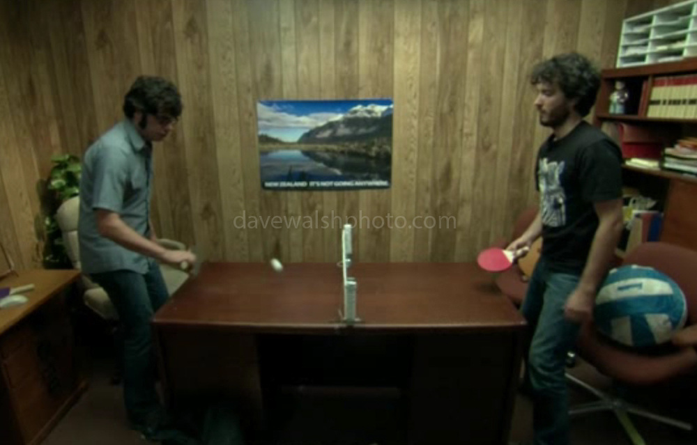 """Image of Mirror Lake used in HBO Series Flight of the Conchords. Photograph on wall of Murray Hewitt's office taken by Dave Walsh<br /> """"New Zealand: It's Not Going Anywhere"""",  episode #16 (Series 2, episode 4) """"Murray Takes it to the Next Level"""""""