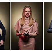 The Five Browns, classical musicians composite photo. They all play the piano so I took photos of them with tiny pianos instead of full size like they normally do. (August Miller Photo)