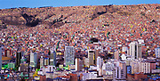 First light coming into the city of La Paz