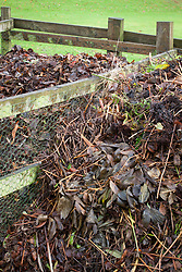 Fresh material added to compost heap