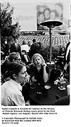 Sophia Coppola & Amanda de Cadenet on the Terrace of Chateau Marmont during a party given by the Ford Models Agency.  Los Angeles. March 1995. Film 95537/21<br />© Copyright Photograph by Dafydd Jones<br />66 Stockwell Park Rd. London SW9 0DA<br />Tel 0171 733 0108