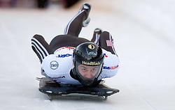 Zach Lund of USA competes during 1st Run of FIBT Bob & Skeleton World Cup Innsbruck-Igls race on January 23, 2009 in Igls, Innsbruck, Austria. (Photo by Vid Ponikvar / Sportida)