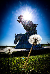 The Kelpies at The Helix in Falkirk, 6/5/2020.